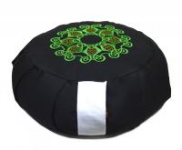 Дзафу с вышивкой (зелено-желтый узор).
