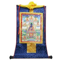 Тханка Будда Медицины (печатная, 22,5 х 35 см).
