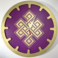 """Часы """"Бесконечный узел"""" (сиреневые, диаметр 30 см)."""