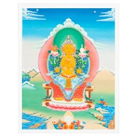 Тханка печатная на холсте Будда Майтрейя (32 х 42 см).