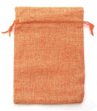 Мешочек на шнурке (13 x 18 см), оранжевый.