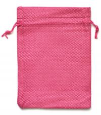 Мешочек на шнурке (13 x 18 см), розовый.