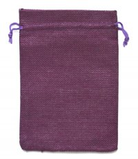 Мешочек на шнурке (13 x 18 см), пурпурный.