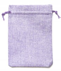 Мешочек на шнурке (13 x 18 см), светло-пурпурный.