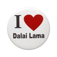 "Значок ""I love Dalai Lama"", 5,5 см."