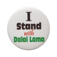 "Значок ""I stand with Dalai Lama"", 5,5 см."
