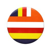 """Значок """"Буддийский флаг"""", 5,5 см."""