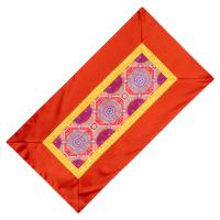 Алтарное покрывало Пурпурное с коричневой окантовкой из натуральной вискозы, 84 x 45 см.