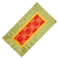 Алтарное покрывало Красное с зеленой окантовкой из натуральной вискозы, 84 x 45 см.