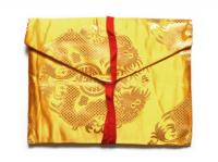 Конверт для текстов желтый (с драконом), 24 х 19 см.