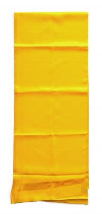 Хадак желтый с Восемью Драгоценными Символами (35 x 183 см).