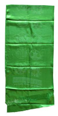 Хадак зеленый с Восемью Драгоценными Символами (45 x 185 см).