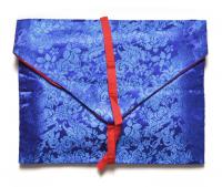 Конверт для текстов синий (цветы), 30 х 24 см.