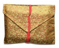Купить Конверт для текстов бежевый (листья), 30 х 24 см в интернет-магазине Dharma.ru