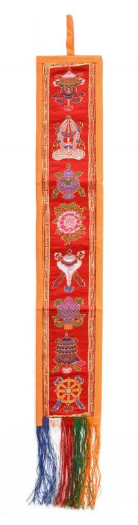 Вымпел с Драгоценными Символами (красный с оранжевой каймой, 12,5 x 69 см).