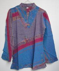 Купить Блузка синяя (Размер: M/L) в интернет-магазине Dharma.ru