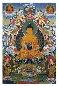 Купить Открытка Будда трех времен (7 х 10 см) в интернет-магазине Dharma.ru