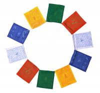 Купить Молитвенные флажки (лунг-та), 10 флажков 21 x 25 см в интернет-магазине Dharma.ru