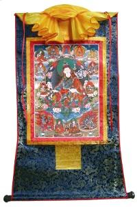 Тханка Гуру Падмасамбхава (печатная, тханка 54 х 88 см, изображение 30 х 44 см).