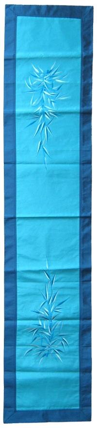 Купить Алтарное покрывало длинное (голубое с синей окантовкой), 41 х 193 см в интернет-магазине Dharma.ru