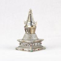 Купить Ступа, доверху наполненная лотосами (12 см) в интернет-магазине Dharma.ru