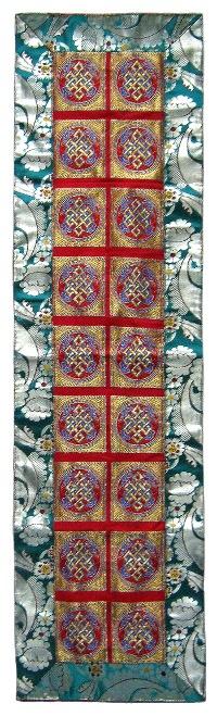 Купить Алтарное покрывало (красное с зеленой окантовкой), 35,5 x 131 см в интернет-магазине Dharma.ru