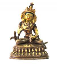 Статуэтка Ваджрасаттвы золотисто-коричневая, 10 см.