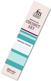 Купить Благовоние Coconut Sky (Кокосовое небо), 20 палочек по 9 см в интернет-магазине Dharma.ru