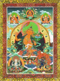 Открытка Ригсум гон-по (Манджушри, Авалокитешвара и Ваджрапани) (23,5 х 17,5 см).