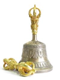 Колокольчик с ваджрой, 17 см, Непал.