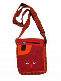 Купить Сумочка с Глазами Будды (красная, 19 x 23 см) в интернет-магазине Dharma.ru