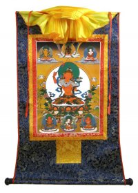 Тханка Манджушри (печатная, 54 х 83 см).